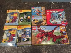Creator / City / Junior - 8 sets incl. 31032 + 10720 + 9002676 + 9002014 - Red Creatures +  Lego Watch and more