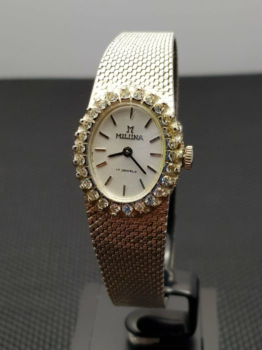 Miluna Diamond  - Dames Horloge - swiss made jaren 70