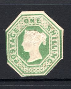 Great Britain Queen Victoria - 1/- Green Stanley Gibbons 55