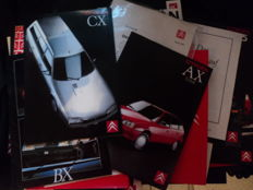 25 original Citroen brochures - approx. 30 photos and 9 slides and 3 press releases
