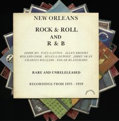 New Orleans (Rhythmh and) Blues. Lot of seven (7) awesome vinyl albums by various artists. Japanese press included. Contains Eddie Bo, Char/les Williams, Aaron Neville, Ernie-K Joe, Earl King, Guitar Slim, Alain Toussaint, Art Neville, and others