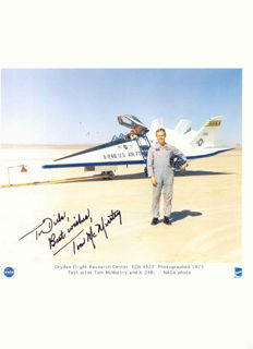 NASA test pilot Tom McMurtry