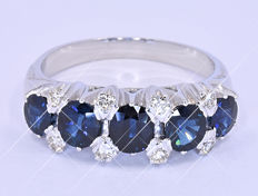 3.11 Ct Sapphires and Diamonds ring NO reserve price!