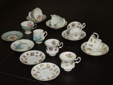 Royal Albert, 8 cups and saucers, mixed lot of English porcelain