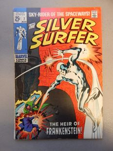 Marvel Comics - Silver Surfer #7 - With 1st appearance of Marvel Comic's version of Frankenstein's Monster and Victor Frankenstein - 1x sc - (1969)