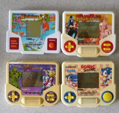 4 Game and Watches from Tiger Electronics.