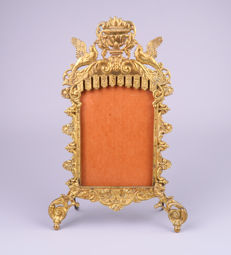 Antique brass photo frame in the Louis XIV style - France - c. 1900
