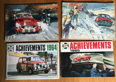 (4) Castrol Achievements 1960,1962,1964,1965, Mini, Austin Healey Alpine Rally, Motor Racing ++++