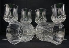 Saint Louis, Set of 6 pieces in cut and chiselled crystal