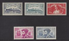 France 1927/1932 - 3 different sets - Yvert n° 296/297, 299/300 and 308