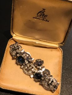 Very Rare Art Deco signed boxed crystal bracelet Ciro