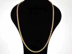 "18K Gold Necklace. Chain ""Cord"" - 65 cm. Weight 14.86 g. No reserve price."