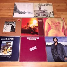 Eric Clapton - 8 LP Album Lot