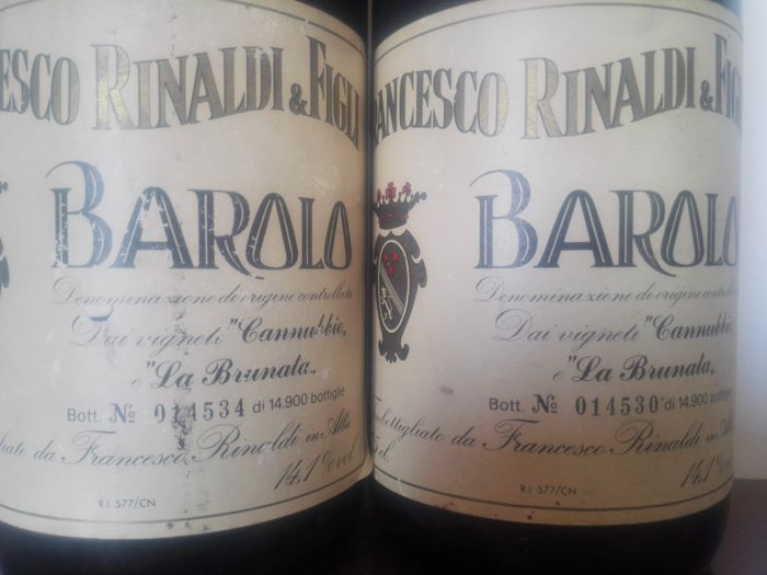 1978 Barolo Cannubi e Brunate Francesco Rinaldi - 2 bottles (75cl)