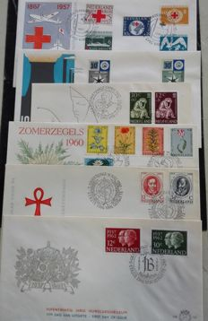 The Netherlands 1957/1962 - Selection First day enveloppes