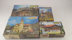 Faller Scenery H0 - 130904/130366/130385/274 - 4 construction sets for rural environment of Bergen