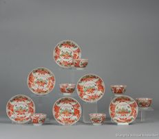Rare set Qianlong Porcelain Bowls and  Saucers. Amsterdam Bont - China circa 1740