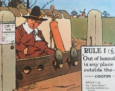 The rules of golf illustrated by Charles Crombie - without date (ca. 1960)