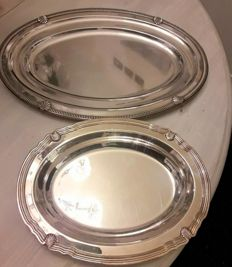 Two silver plated Christofle trays