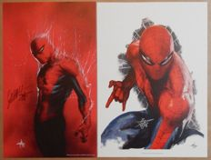 Spider-man - 2 x Prints - Signed by Gabriele Dell'otto