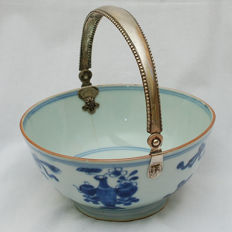 Porcelain bowl with silver handle - China - 18th century
