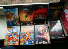 8 Game cube games-nintendo-rogue ops-SSX tricky-Defender-Ty the tasmanian tiger--Kao round 2 the kangaroo-Die hard vendetta