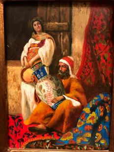 "20th Century Orientalist  - ""Arab, couple of merchants"""