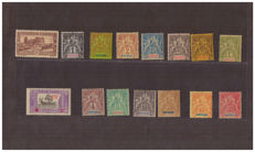French colonies, Martinique and Tunisia - stamp selection