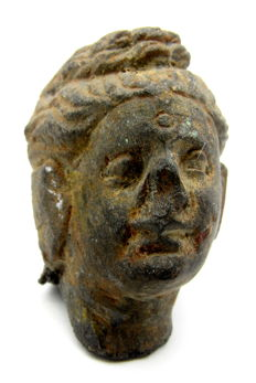 Gandhara Stone Head of Buddha - Including Stand - 42mm