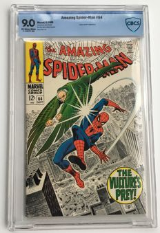 Marvel Comics - The Amazing Spider-Man #64 - CBCS Graded 9.0 - Very High grade copy - 1x sc - (1968)