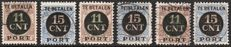 The Netherlands 1924 - Post package - settlement stamps - NVPH PV1/PV2 A/C
