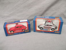 Tomica Dandy - Scale 1/43 - VW Volkswagen Beetle 1200LE Racing, No.F29 and VW Volkswagen Beetle 1200LE, No.F11