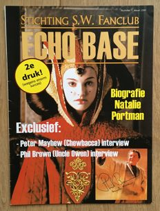Star Wars - Echo Base Magazine #1, signed on the cover by actor Phil Brown - 2001