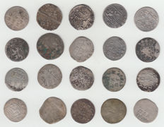Provincial Netherlands - Double stuivers and Double Wapenstuiver 1617/1792 (20 pieces) - silver