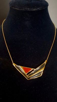 MONET Necklace with black/red enamel