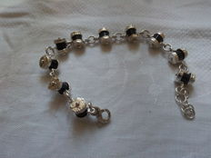 925 silver bracelet with onyx from South Africa.