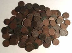 The Netherlands - Large lot of cents 1878–1941 (200 pieces) Willem III & Wilhelmina
