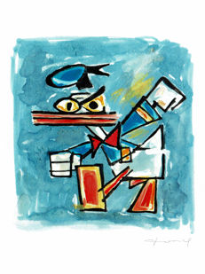 Fernandez, Tony - Original Painting - Donald Duck inspired by Picasso