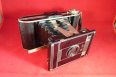 Special camera: brown AGFA BILLY - ART DECO - folding camera
