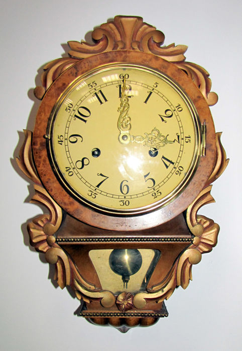 Antique Swedish Wall Clock - 1950s