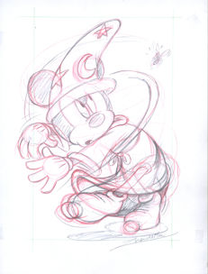 Vendetta, Z. - Original Sketch #6 - Mickey's Bee - The Sorcerer's Apprentice