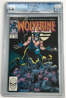 Marvel Comics - Wolverine #1  of his own Series - CGC Graded 9.6! - extremely high grade!!! - 1x sc - (1988)