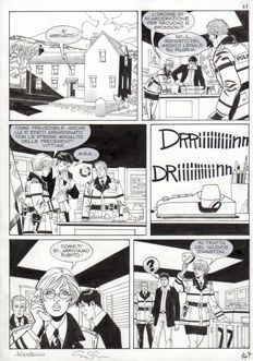 Montanari, Giuseppe / Grassani, Ernesto - a sequence of 6x original plates for Dylan Dog Maxy no. 17 (2012)