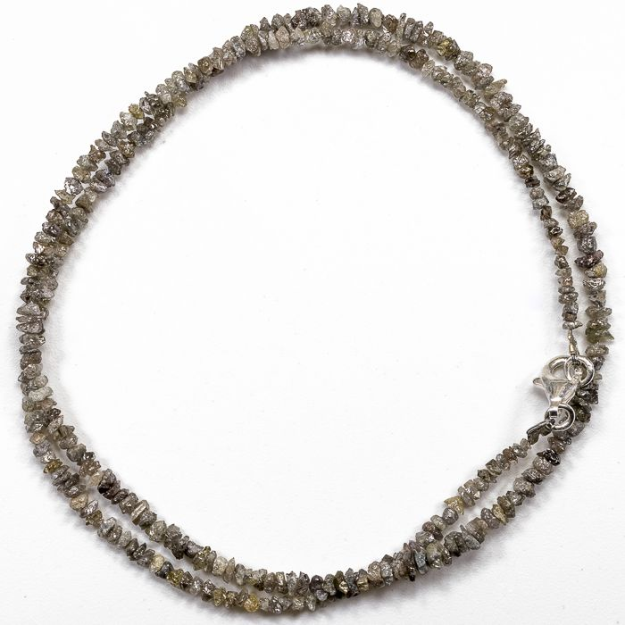 23.50 ct Bracelet or Necklace with light Brown Beach Sand Shade color Rough Diamonds