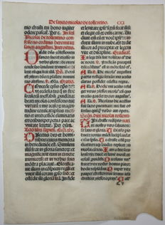Large text leaf from a breviary - c. 1550