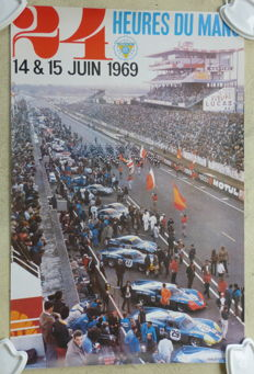 Poster of the 24 hours of Le Mans 1969 - 1980