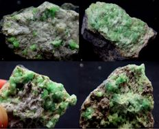 Nice Collection of Perfect Colour Andradite var Demantoid Garnet Crystals - 196 g (4)
