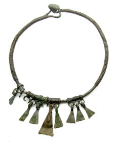 Early Medieval Viking period Neck-Torc with Goose Foot Pendants - 158mm