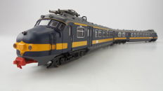 "Piko H0 - 57573 - Two-piece electric train set ""Hondkop"" in BeNeLux version of the NS and NMBS, with interior lighting"