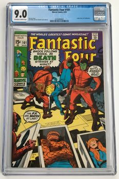 Marvel Comics - The Fantastic Four #101 - CGC Graded 9.0 - Very High Grade - 1x sc - (1970)